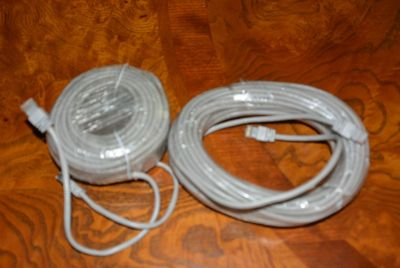 60FT CAT5 Ethernet Cables - Computer Networking Wire Cord (14 Available)