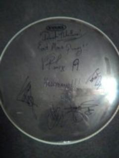 autographed hell yeah drumhead
