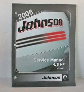 Buy NEW OEM 2006 Johnson 4 stroke 4 hp 5 HP Outboard Motor Service Manual 5006588 motorcycle in Daytona Beach, Florida, United States, for US $18.69