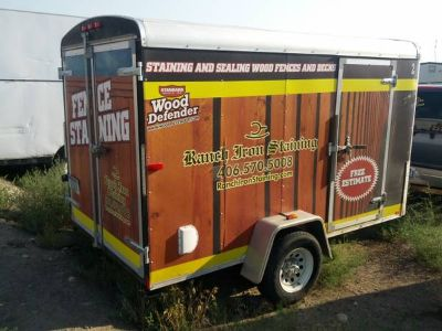 Wood Defender Staining Business  Trailer
