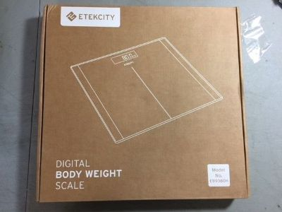 NEW etekcity digital bathroom weight scale 400lb 180kg smart step on tempered glass
