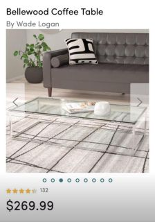 NEW Silver Coffee Table/ End Table Set