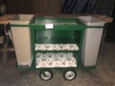 All Metal Cleaning Cart