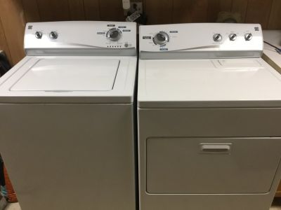 Kenmore White Washer and Gas Dryer