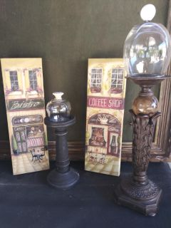 Candle stand and canvas frames