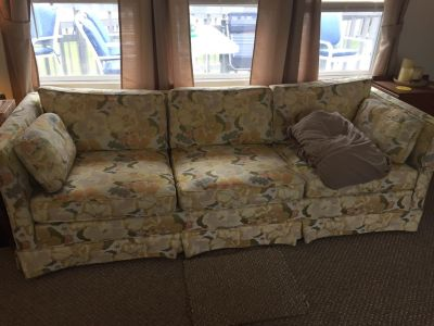 Sofa and beige slipcover in great condition - FREE to good home