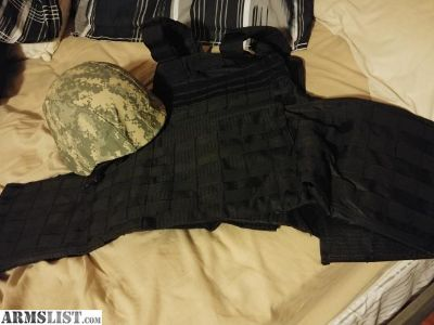 For Sale/Trade: M88 Level IIIA helmet and Tactical Molle Plate carrier and ar500 plates