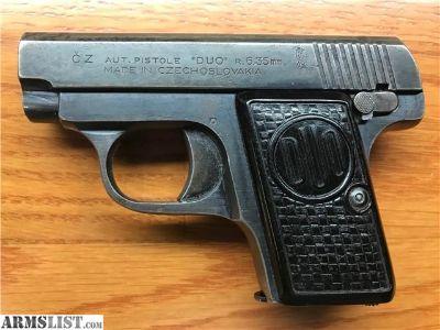 For Sale: C-Z Duo .25 ACP 6+1 C&R 6.35mm CZ C Z