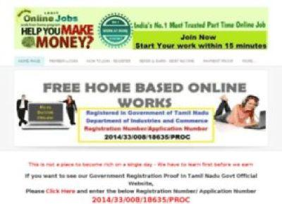 Best and Easy Online Home Based Part Time Jobs - Govt Registered - 9994335409