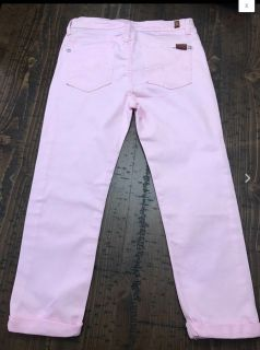 7 For All Mankind Pink Capri Cropped Pant/ Jean 14
