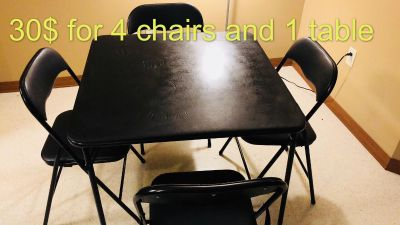 1 table + 4 chairs