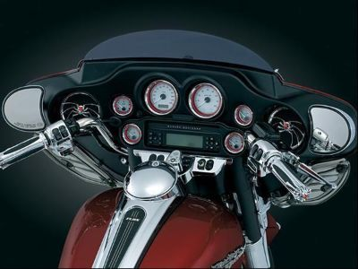 Buy HARLEY DAVIDSON 2000-2012 ELECTRA GLIDE CHROME BEZELS W/RINGS FOR SMALL GUAGES motorcycle in Alexandria, Virginia, US, for US $74.99