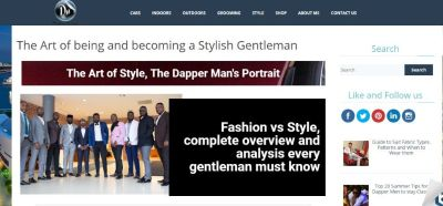 Men Fashion Style Blog-The Dapper Maniac- Guide to being a Gentleman