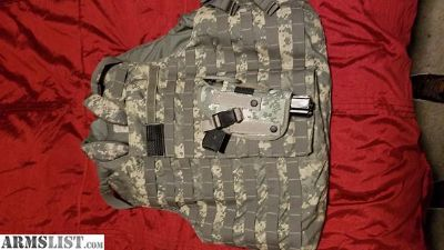 For Sale/Trade: stage 3 body armor bullet proof vest with plates hollster