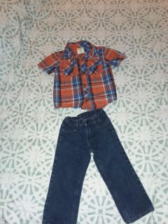 Boy's size 2t Crazy 8 shirt and Nautica jeans like new excellent condition