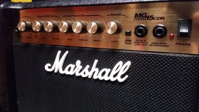 Marshall Electric Guitar Combo Amp w/ Spring Reverb MG15CDR