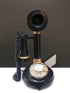Vintage 1973 rotary candlestick phone