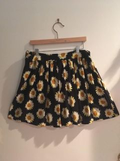 Black skirt with Sunflowers