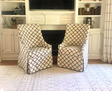 Two custom Upholstered chairs