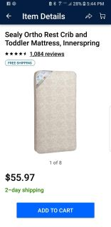 Sealy Ortho Rest Firm Crib Mattress
