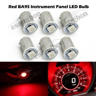 Buy 6x Red BA9S Light Bulb 5050 SMD LED Instrument Panel Cluster 1815 1895 motorcycle in Milpitas, California, United States