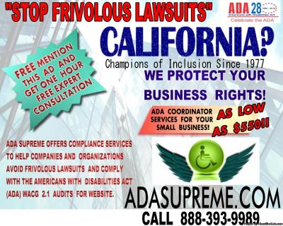 WE HELP YOU AVOID FRIVOLOUS LAWSUITS****ADA