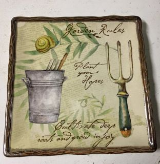 Square Garden Rules plate