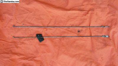 67 Squareback Front Door Rod L/R Set
