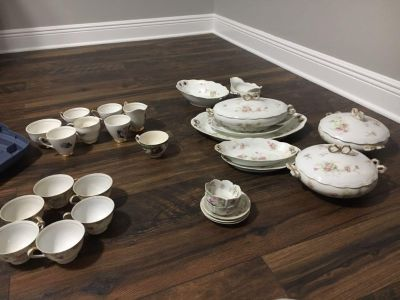 Antique China....teacups, serving dishes, platters, saucers