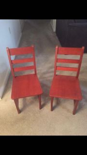 Set of kid s wooden chairs
