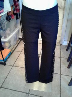 Flarred pants with side slits (7)
