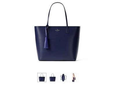 New Kate Spade New York Wright Place Karla Leather Tote Purse