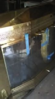 Brass fireplace front