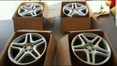 "Sell 21"" MERCEDES BENZ GL GL550 GL63 AMG OEM WHEELS RIMS AUTHENTIC motorcycle in Huntington Beach, California, United States, for US $2,395.00"