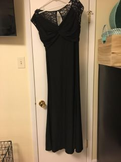 Black long dress with lace back