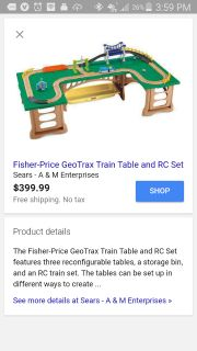 Fisher-Price GeoTrax Train Table and RC set ***reduced***
