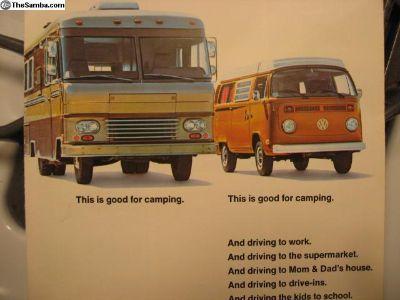 1975 Camper Brochure Campmobile
