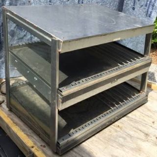 hatco commercial 2 shelf stainless heated display
