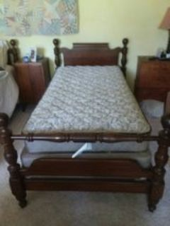 Two solid wood Twin Beds w/mattresses