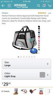 Pet carrier Used once