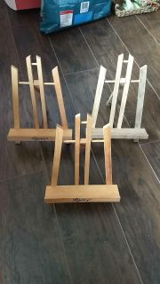 3 small easels