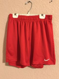 Red Dri- Fit Sports Gym Shorts. Very Nice Condition. Size Medium