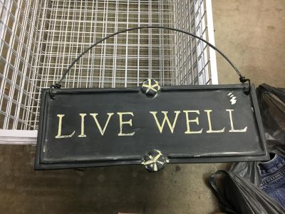 Metal sign approx 12 x 5
