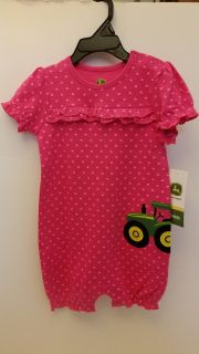 John Deere Infant Girl One Piece Bodysuit New 18 Months