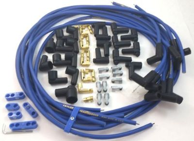 Purchase SBC SB Chevy Universal Blue Taylor 8 MM Spark Plug Wires 90 Degree W/ Looms 350 motorcycle in Chatsworth, California, United States, for US $46.99