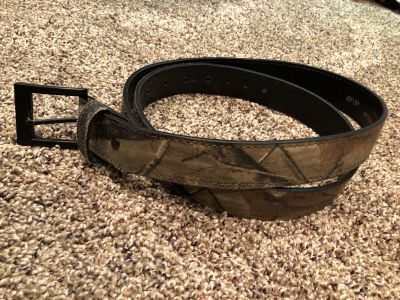 Camouflage Hunting Or Regular Belt Leather and Made In The USA