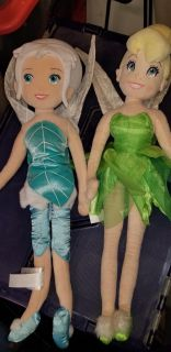 Periwinkle and tinker bell soft dolls