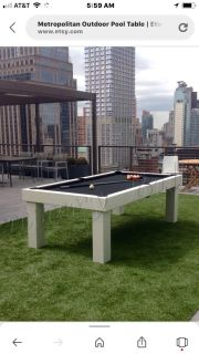 8 outdoor pool table great used condition