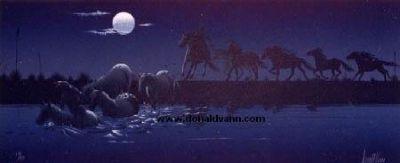 Native American Artist - Donald Vann - Midnight Getaway