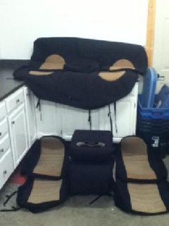 $400 Ford powerstroke wet oak seat covers and center flip up